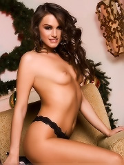 Tori Black takes a break from the holiday seasons festivities for a sexy striptease and a relaxing bout of ass pussy masturbation and breasts massagin